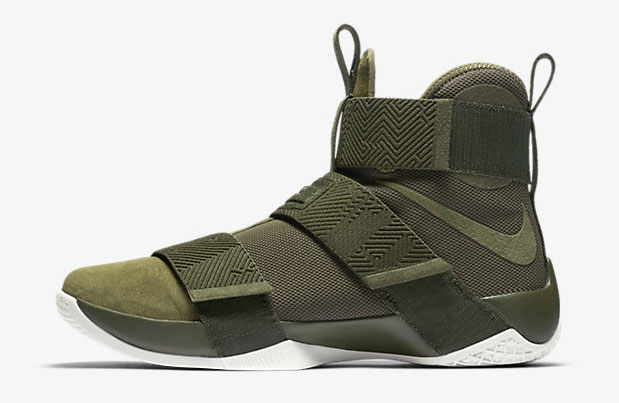 huge discount 72093 1024c Nike LeBron Soldier 10 Lux Cargo Khaki Green   SportFits.com