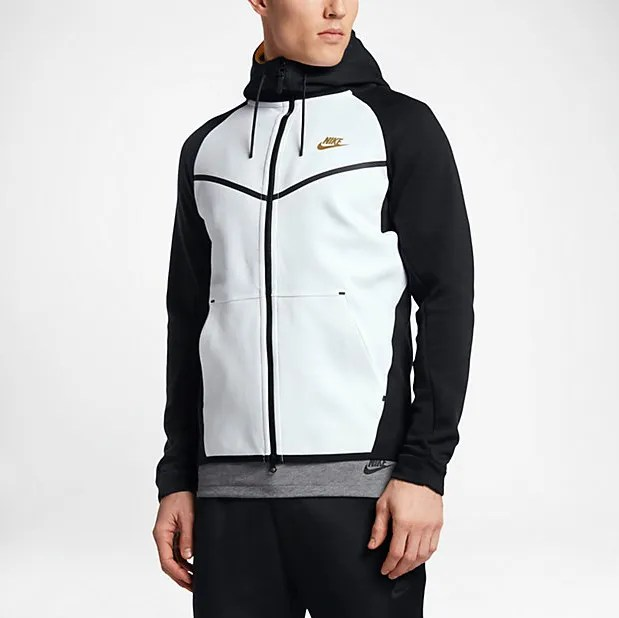 5aed00f1a5a0 Nike Sportswear Tech Fleece Windrunner Black White Golden Beige ...