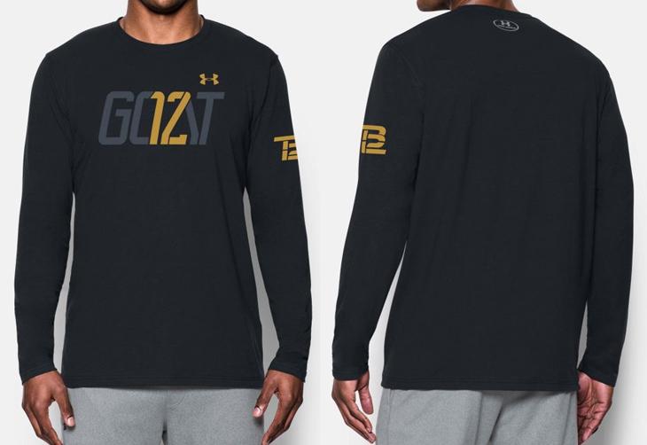 Tom Brady TB12 GOAT Shirt by Under Armour   SportFits com