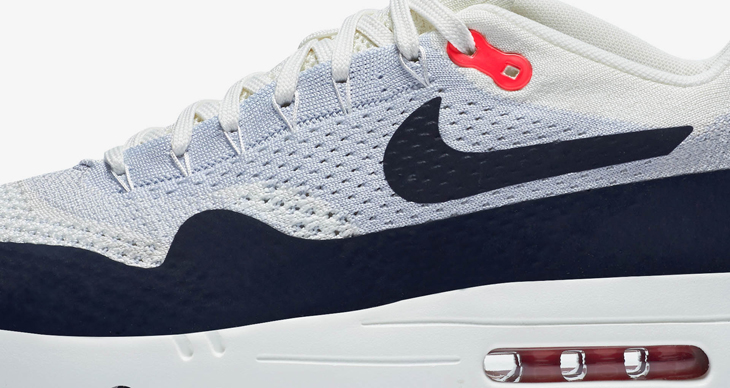 nike air max 1 og flyknit obsidian sail red