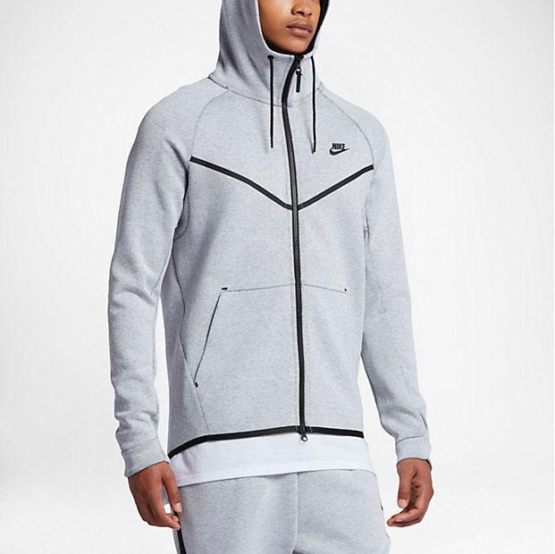 9fe9ca9304 nike-tech-fleece-windrunner-hoodie-white-black-2