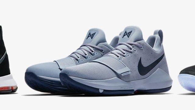 e3af38e8a62 New Nike Basketball Shoes LeBron 14 PG 1 and KD 9 Elite