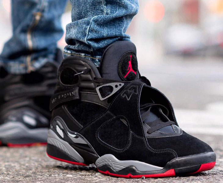 a5a7cafe5f5671 Air Jordan 8 Cement On Foot Look