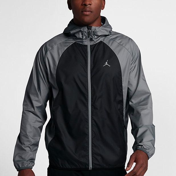 17b0d54c0c18a1 Jordan Sportswear Wings Windbreaker Jacket (Black Cool Grey)
