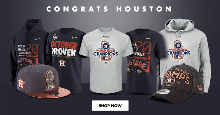 200e558565f Houston Astros 2017 MLB World Series Champions Clothing and Gear