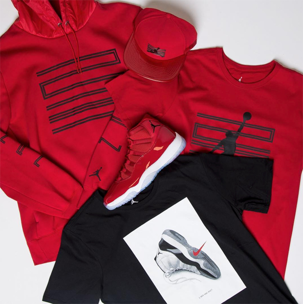 "dbcf05285d9041 Air Jordan 11 ""Win Like  96"" Collection at Champs Sports"