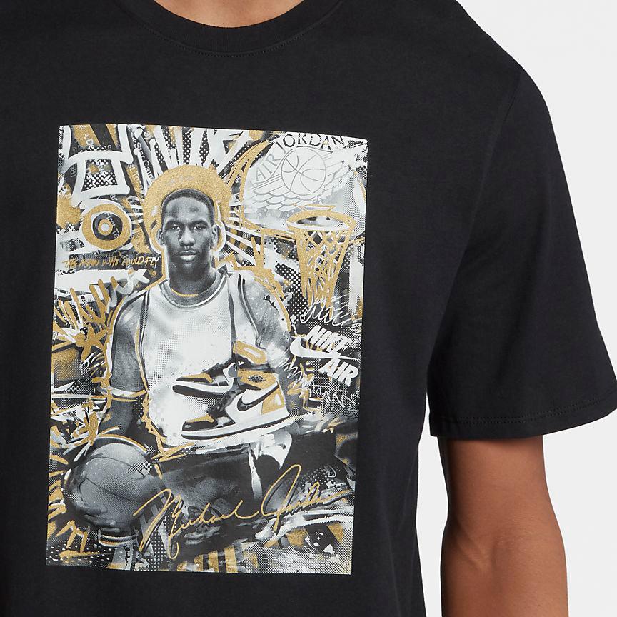 e97eb376d34d3a Air Jordan 1 Gold Toe T Shirt