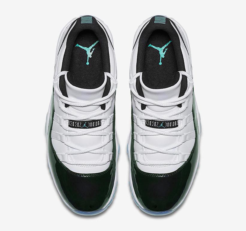 749ad7ea901d52 air-jordan-11-low-iridescent-emerald-easter-clothing-