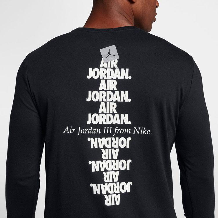 "8f2e13fd2922 Jordan AJ 3 ""Do You Know "" Long Sleeve T-Shirt"