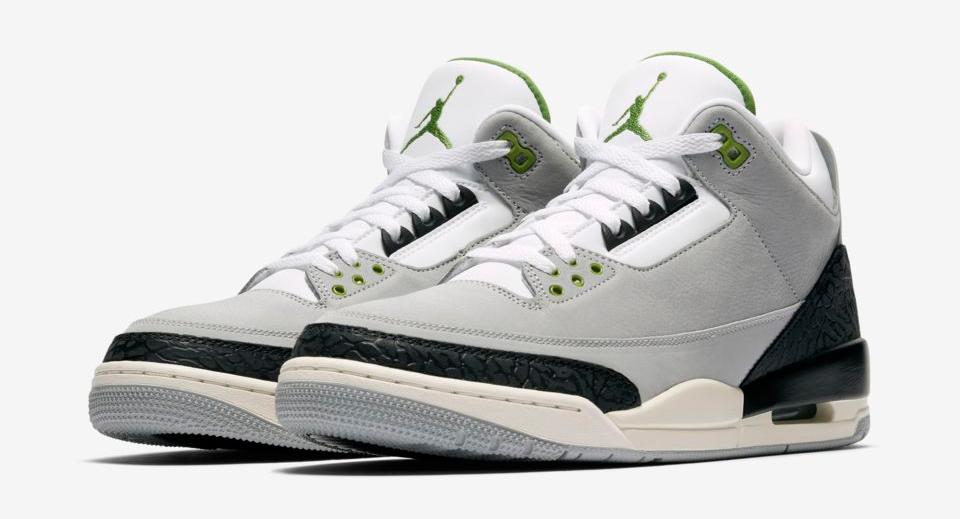 2e97a402c07 Jordan 3 Chlorophyll Shoes Clothing and Gear | SportFits.com