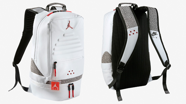 timeless design 710f1 a29f2 air-jordan-3-white-cement-backpack