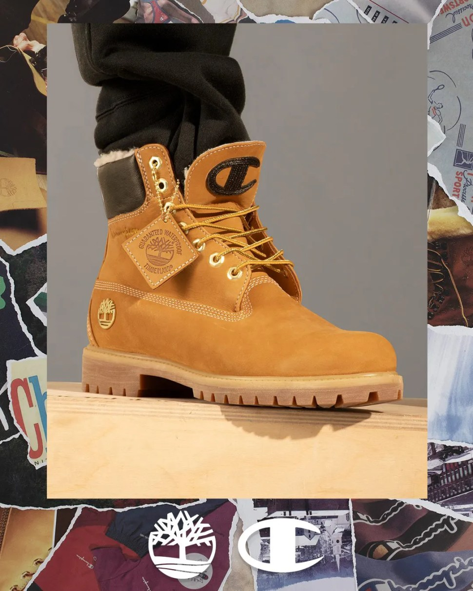 0845cea7338 Champion x Timberland Boots and Clothing