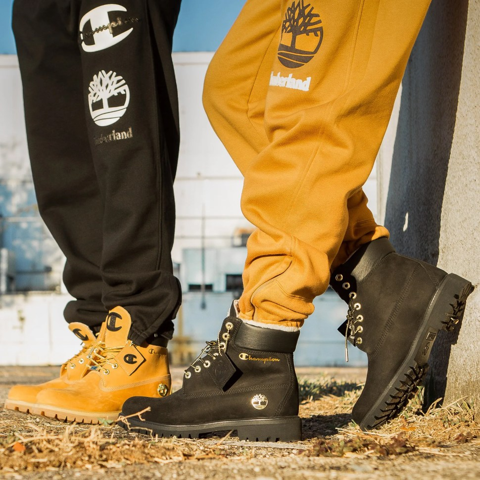 entire collection shop for luxury good out x Champion x Timberland Boots and Clothing | SportFits.com