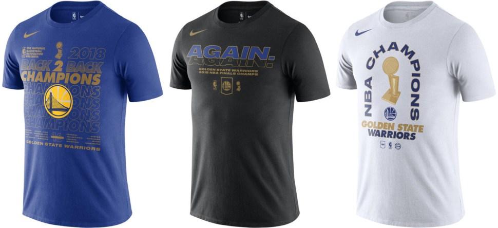 huge inventory 138d3 b0b7e Golden State Warriors 2018 NBA Finals Champions Shirts ...