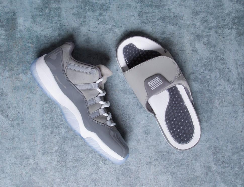 jordan retro 11 low cool grey slides sportfits com