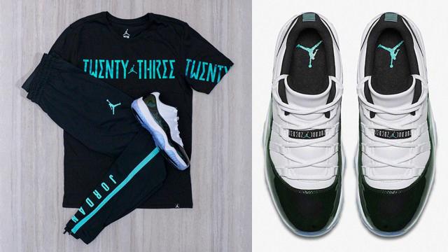 "1840594f8c8c1a Air Jordan 11 Low ""Easter"" + Jordan Retro 11 Iridescent T-Shirt and Jordan  23 Alpha Dry Pants"