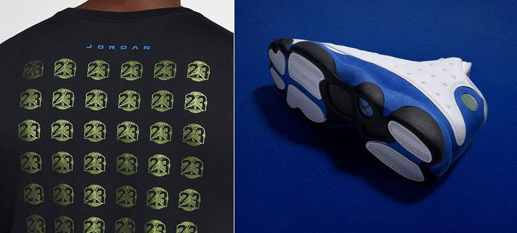 12cda5256255e3 Jordan 13 Hyper Royal Sneaker Tee
