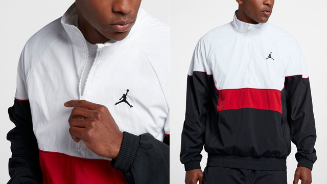 "85df97babf66e1 Fresh off the recent OG return of the Air Jordan 3 ""Black Cement"" sneakers  comes this Jordan Retro 3 Half-Zip Jacket to pair up with the shoes."