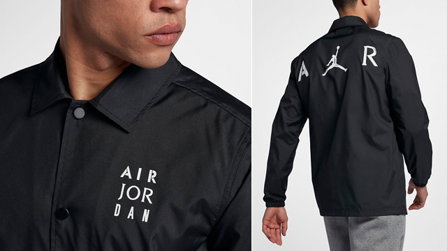 e5f72a669bb7d1 Jordan Black White Jumpman Coaches Jacket