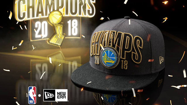 buy popular 05f85 2be52 Golden State Warriors New Era 2018 NBA Finals Champions Cap Collection