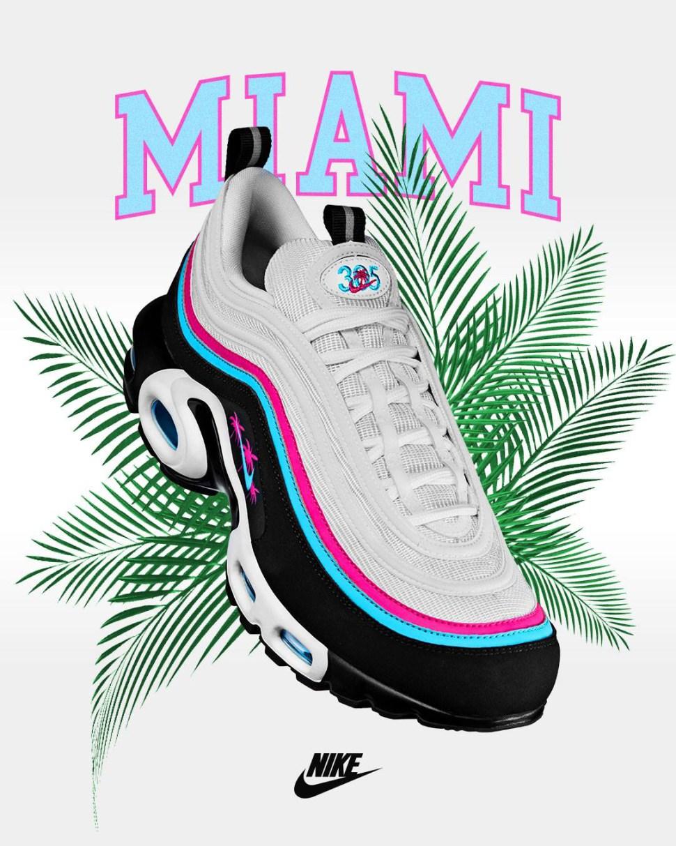 49c221d6950 Nike Air Max 97 Plus Miami Away Clothing Match
