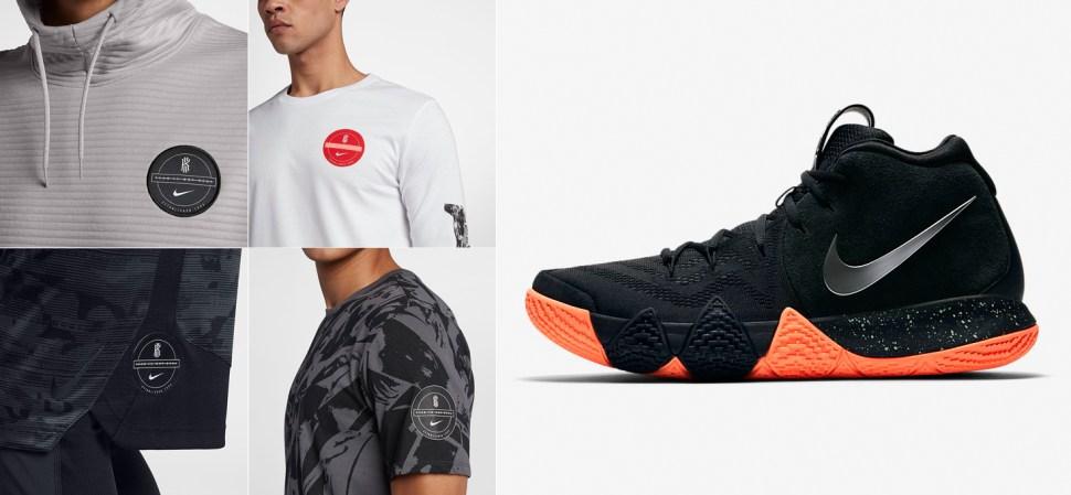 sale retailer 9d03f aef4c nike-kyrie-4-black-silver-orange-clothing
