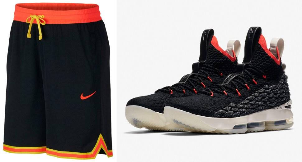 Nike LeBron 15 Bright Crimson Shorts Match  09efe3c816