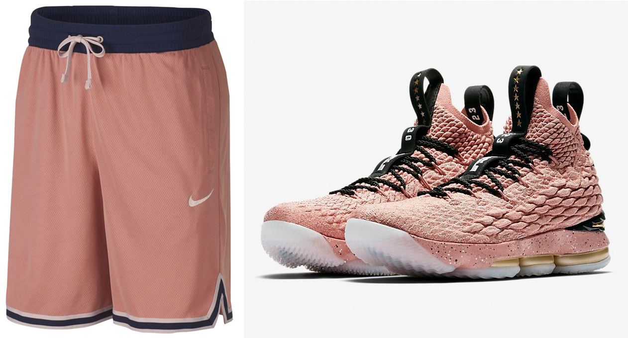 ec341082a41c3a ... usa nike lebron 15 hollywood rust pink shorts match a1820 e942e