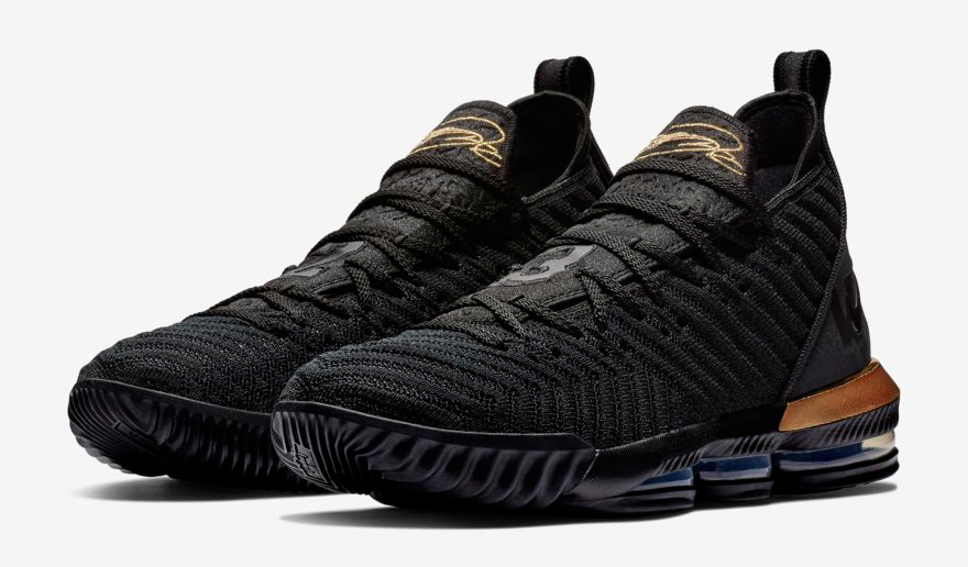 Nike LeBron 16 Im King Black Gold Where