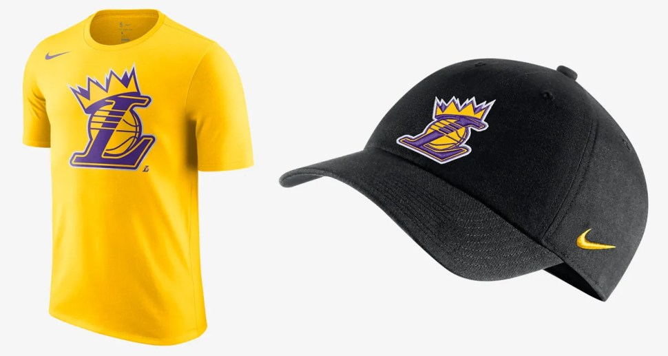 b037102dd2dd Nike Lebron LA Lakers Crown Shirt and Hat | SportFits.com