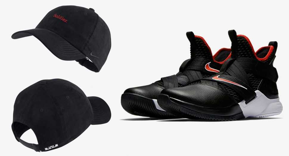 Nike LeBron Soldier 12 Bred and Hat to Match  6b58d1d7802