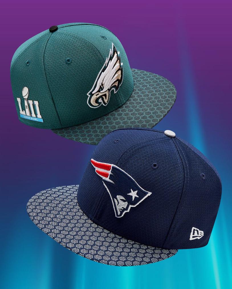 cheap for discount b3973 a54b6 super-bowl-LII-new-era-hats-1