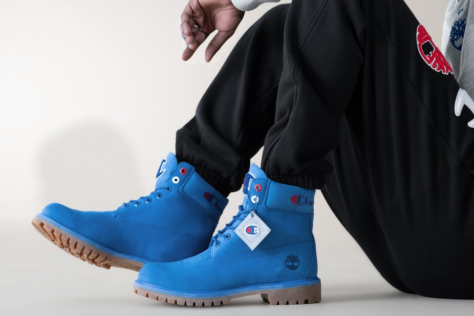 innovative design nice cheap discount shop Timberland Champion Boots in Blue Grey Black | SportFits.com