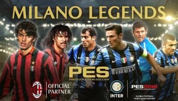 Легенды «Милана» и «Интера» появятся в Pro Evolution Soccer