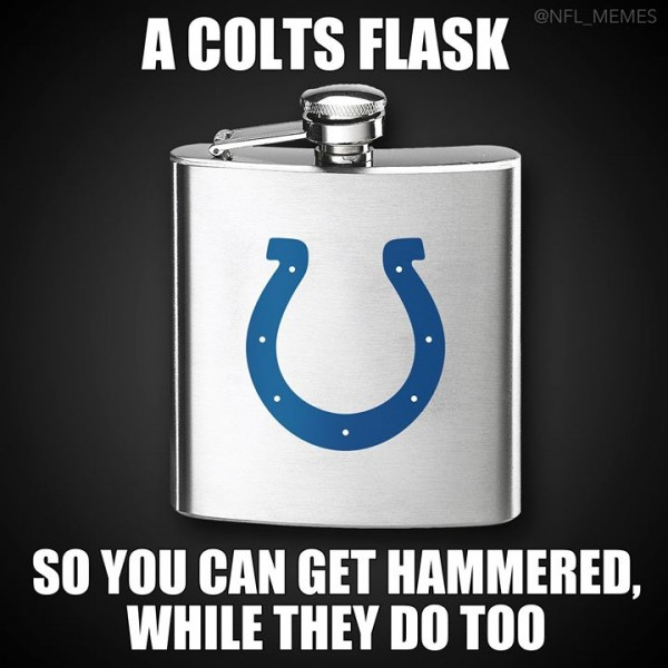 Colts flask e1421677667240 33 Best Memes of Tom Brady & the New England Patriots Destroying Andrew Luck & the Indianapolis Colts