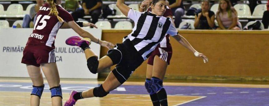 Handbal feminin: Universitatea Cluj va juca în deplasare cu CSM Bistrița