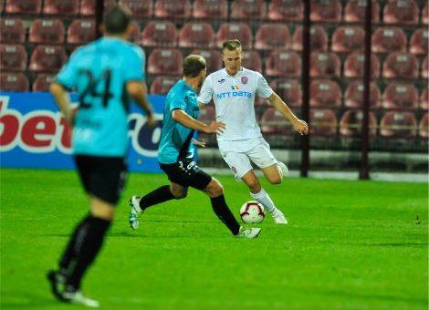 Victorie chinuită pentru CFR Cluj în meciul cu FC Hermanstadt