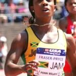 Shelly Ann Fraser-Pryce at Penn Relays