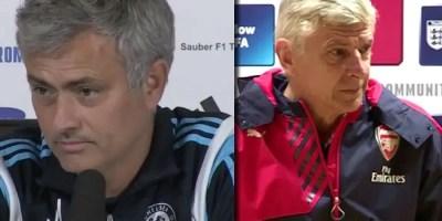Jose Mourinho v Arsene Wenger Schedule