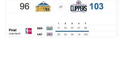LA Clippers v Denver Nuggets preseason