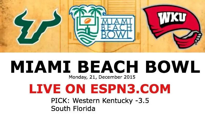 College Football Bowl: USF-WKU - Miami Beach Bowl ESPN3
