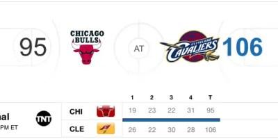 Cavaliers v Bulls