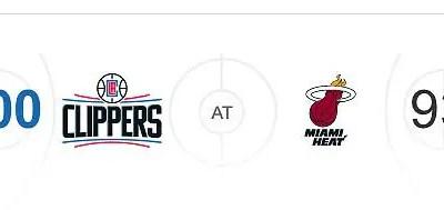 LA Clippers v Miami Heat NBA Score