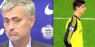 Mourinho and Courtois: Chelsea