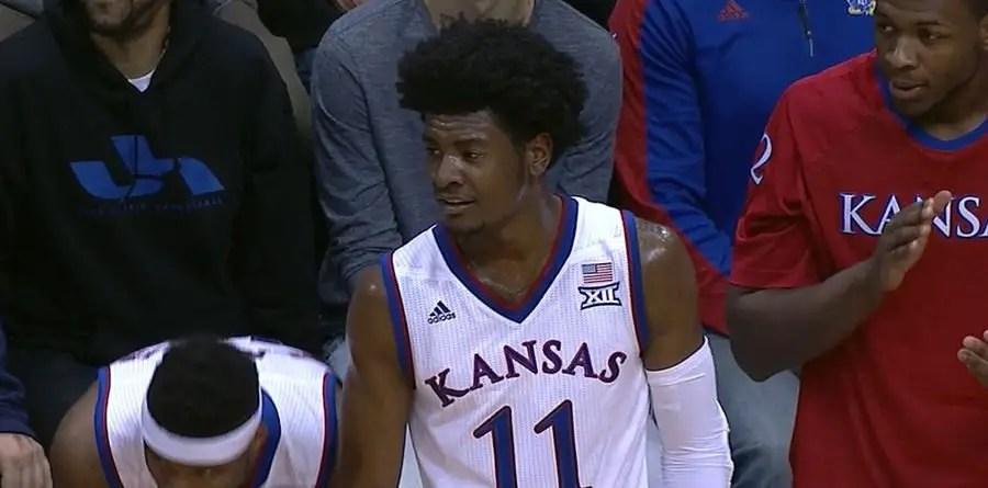 Josh Jackson of the Kansas Jayhawks