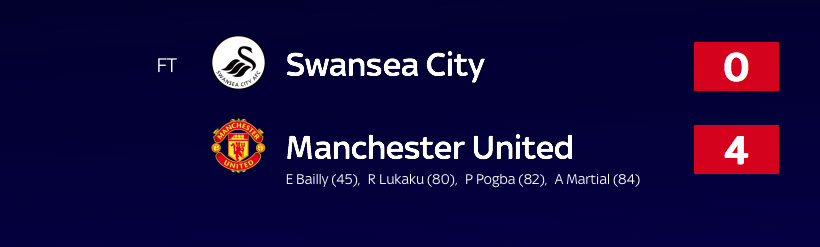 Swansea v Manchester United - Premier League