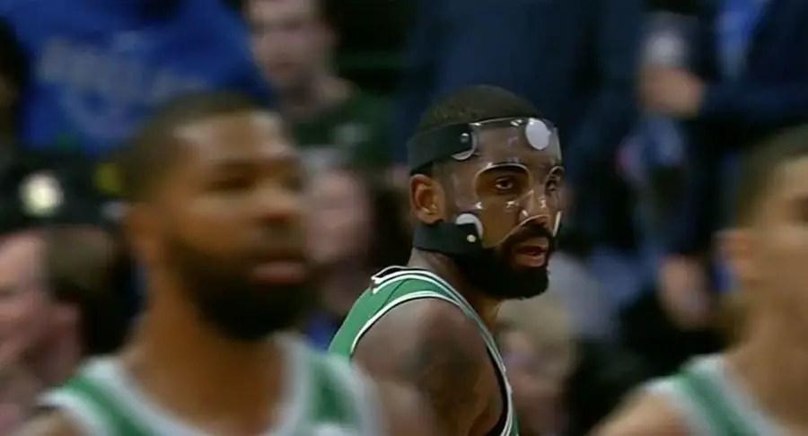 Kyrie Irving of the Boston Celtics