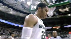 Ward Nets 22, Bridges Hurt In No. 2 Michigan State Win Over Stony Brook