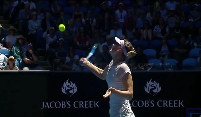 Maria Sharapova at the 2018 Australia Open