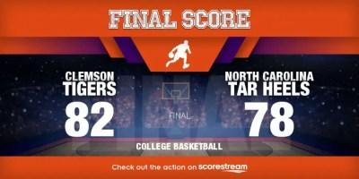 Clemson v North Carolina college basketball